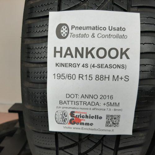 195/60 R15 88H M+S Hankook Kinergy 4S (4-Seasons) + 60% +5mm – Gomme 4 Stagioni