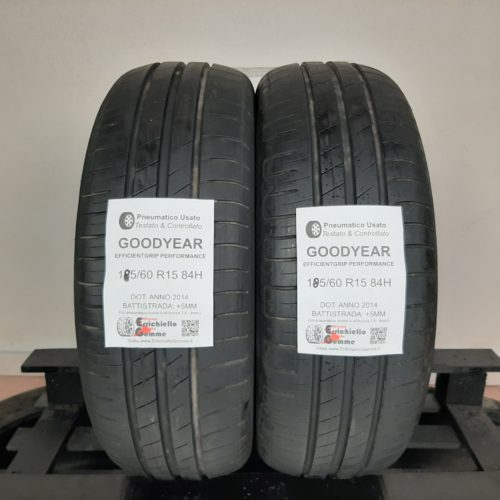 185/60 R15 84H Goodyear EfficientGrip Performance –  60% +5mm Gomme Estive