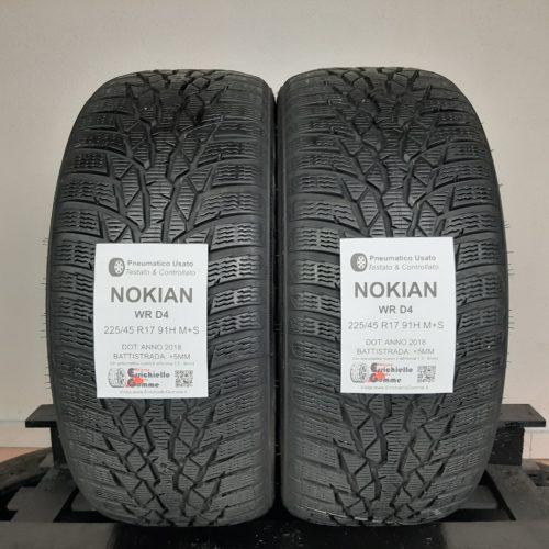 225/45 R17 91H M+S Nokian WR D4  – 60% +5mm – Gomme Invernali