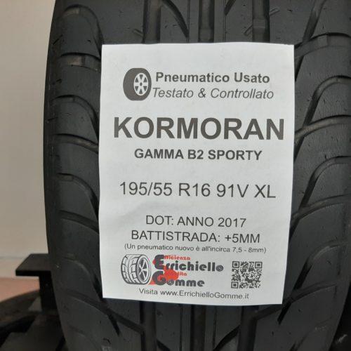 195/55 R16 91V XL Kormoran Gamma B2 Sporty  – 60% +5mm Gomme Estive