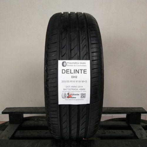 205/55 R16 91W M+S Delinte DH2 – 70% +6mm – Gomma 4 Stagioni