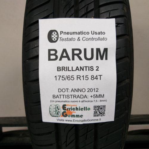 175/65 R15 84T Barum Brillantis 2 – 60% +5mm – Gomma Estiva