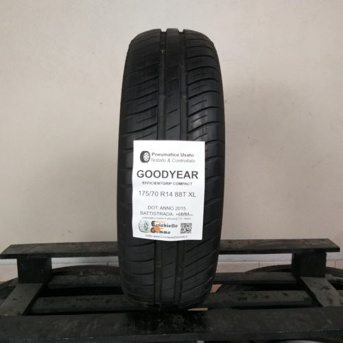 175/70 R14 88T XL Goodyer EfficientGrip Compact – 70% +6mm – Gomma Estiva