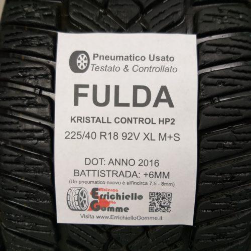 225/40 R18 92V XL M+S Fulda Kristall Control HP – 70% +6mm – Gomma Invernale