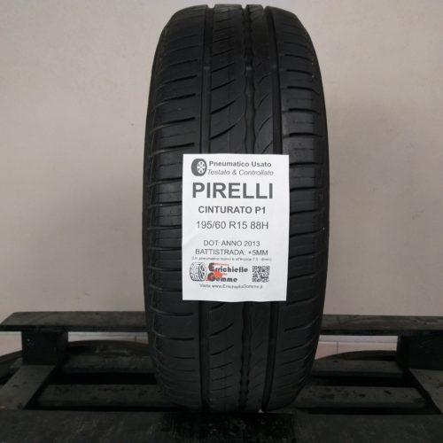 195/60 R15 88H Pirelli Cinturato P1 – 60% +5mm – Gomma Estiva