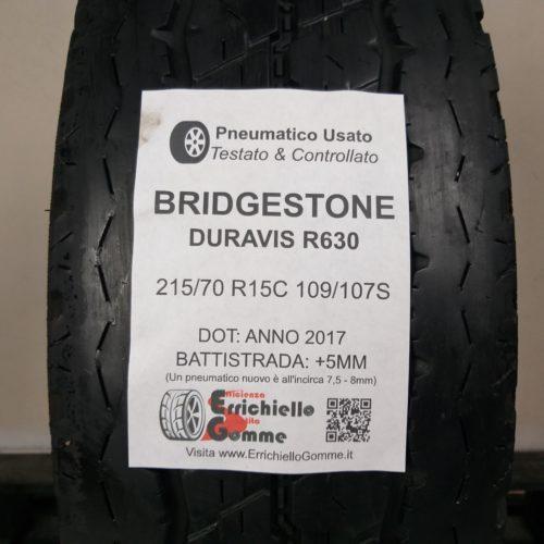 215/70 R15C 109S Bridgestone Duravis R630 – 60% 5mm Gomma Estiva Trasport