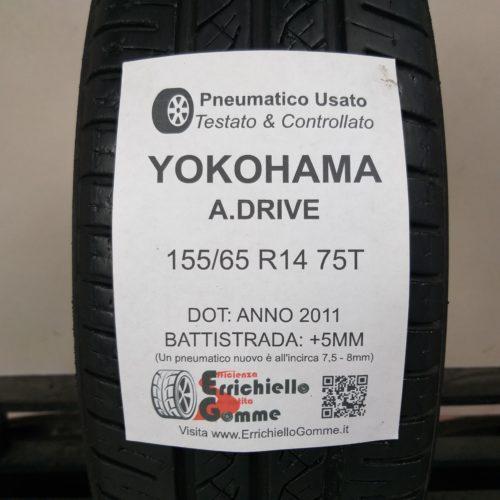 155/65 R14 75T Yokohama A.Drive – 60% +5mm – Gomma Estiva