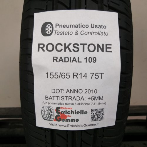 155/65 R14 75T Rockstone Radial 109 – 60% +5mm – Gomma Estiva