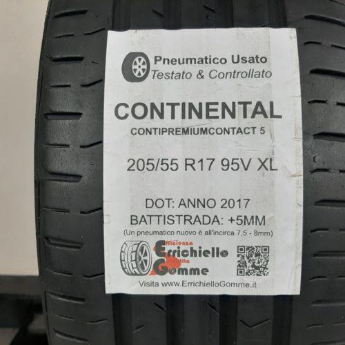 205/55 R17 95V XL Continental ContiPremiumContact 5 – 60% +5mm – Gomma Estiva