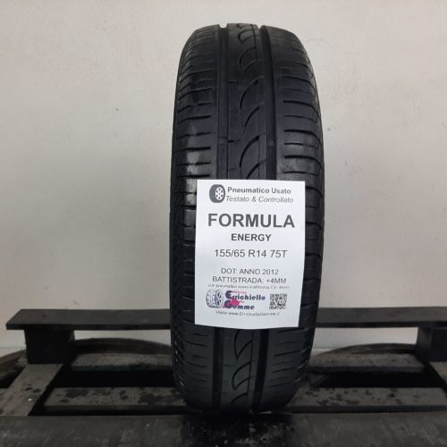 155/65 R14 75T Formula Energy – 50% +4mm – Gomma Estiva