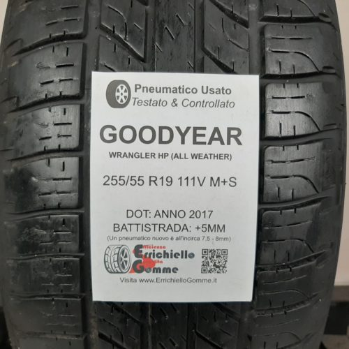 255/55 R19 111V M+S Goodyear Wrangler HP (All Weather) – 60% +5mm – Gomme 4 Stagioni