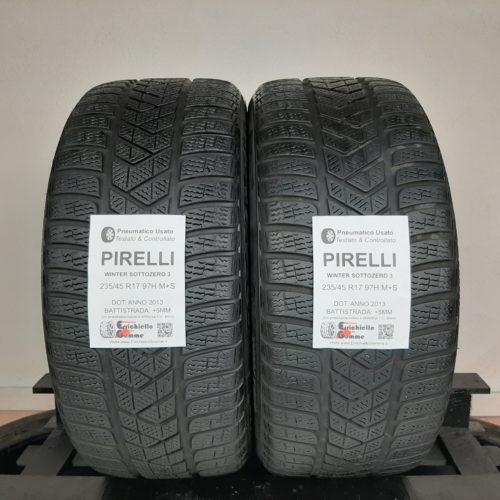 235/45 R17 97H M+S Pirelli Winter Sottozero 3 –  60% +5mm Gomme Invernali