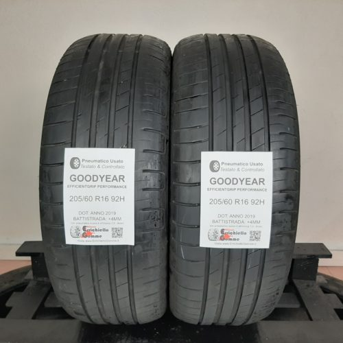 205/60 R16 92H Goodyear EfficientGrip PErformance –  50% +4mm Gomme Estive
