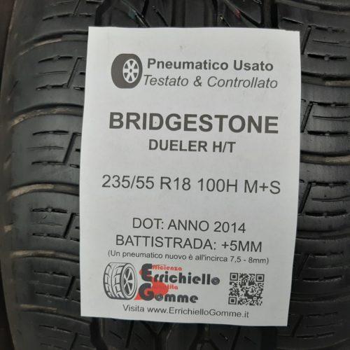 235/55 R18 100H M+S Bridgestone Dueler H/T –  60% +5mm Gomme 4 Stagioni