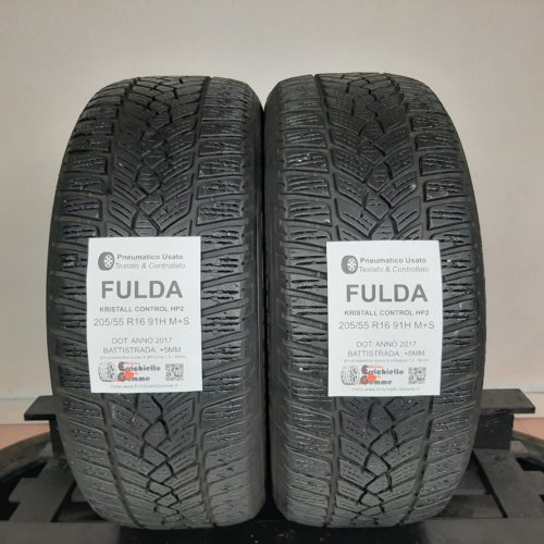 205/55 R16 91H M+S Fulda Kristall Control HP2 – 60% +5mm – Gomme Invernali