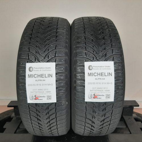 205/55 R16 91H M+S Michelin Alpin A4 – 70% +6mm Gomme Invernali