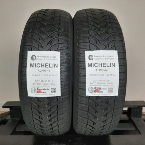 185/60 R15 88T XL M+S Michelin Alpin A4 – 60% +5mm – Gomme Invernali