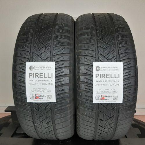 245/45 R18 100V M+S Pirelli Winter Sottozero 3 – 60% +5mm – Gomme Invernali