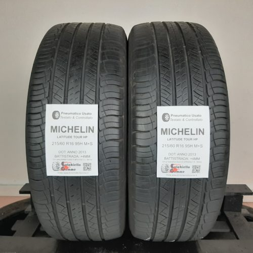 215/60 R16 95H M+S Michelin Latitude Tour HP – 50% +4mm – Gomme 4 Stagioni