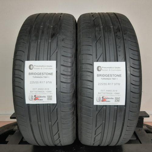 225/55 R17 97W Bridgestone Turanza T001 I – 60% +5mm – Gomme Estive