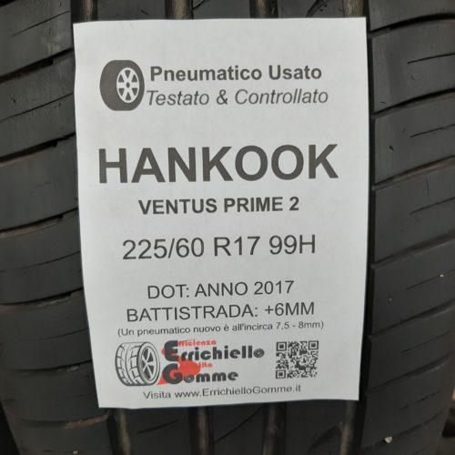 225/60 R17 99H Hankook Ventus Prime 2 – 70% +6mm – Gomme Estive