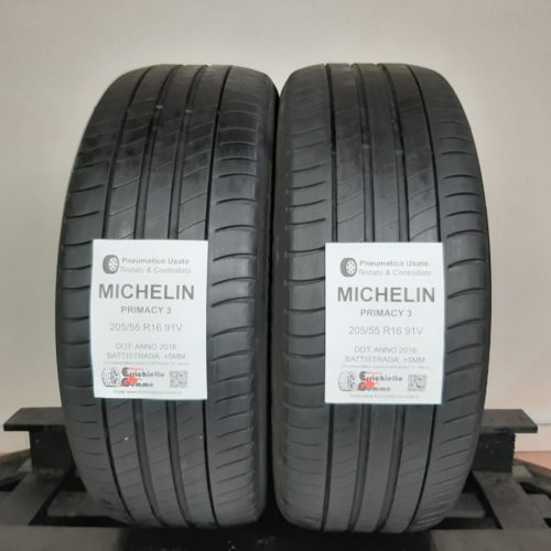 205/55 R16 91V Michelin Primacy 3 – 60% +5mm – Gomme Estive