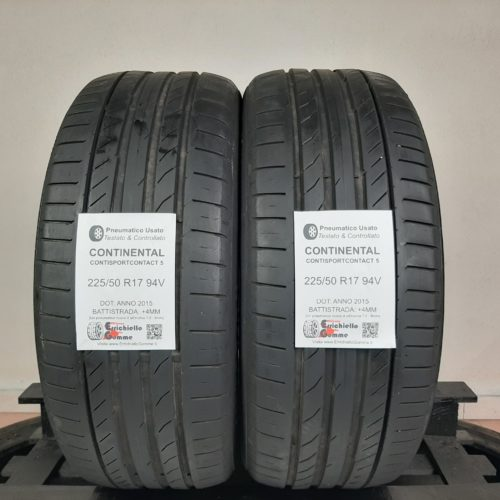 225/50 R17 94V Continental ContiSportContact 5 –  50% +4mm – Gomme Estive