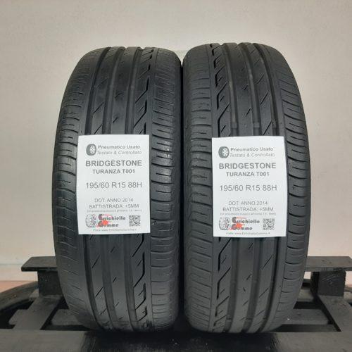 195/60 R15 88H Bridgestone Turanza T001 +   60% +5mm – Gomme Estive