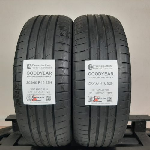 205/60 R16 92H Goodyear EfficientGrip Performance  + 50% +4mm Gomme Estive