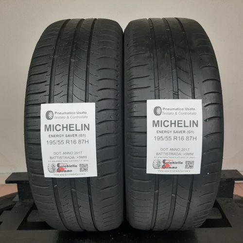 195/55 R16 87H Michelin Energy Saver (G1) – 60% +5mm – Gomme Estive