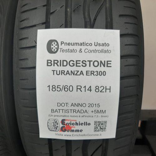 185/60 R14 82H Bridgestone Turanza ER300 – 60% +5mm – Gomme Estive