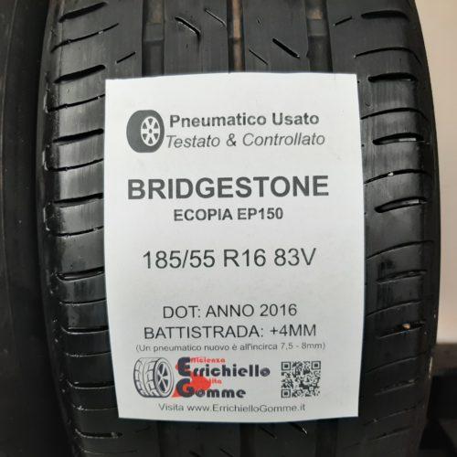 185/55 R16 83V Bridgestone Ecopia EP150 – 50% +4mm – Gomme Estive