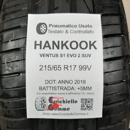215/65 R17 99V Hankook Ventus S1 EVO 2 SUV – 60% +5mm – Gomme Estive