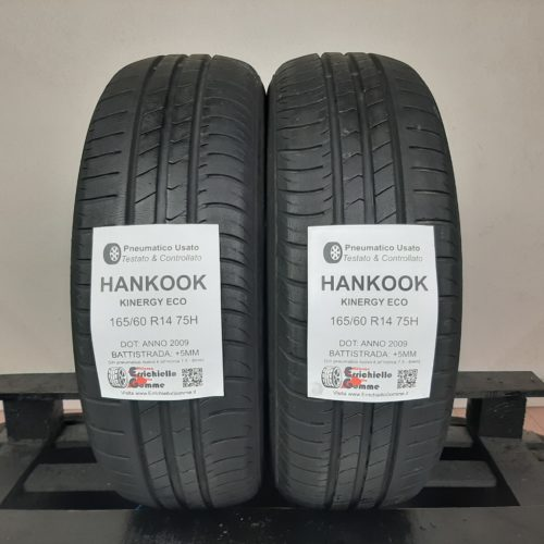 165/60 R14 75H Hankook Kinergy Eco – 60% +5mm – Gomme Estive
