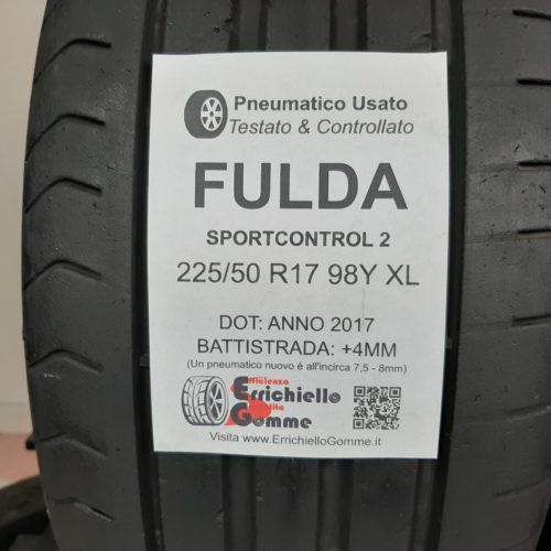 225/50 R17 98Y XL Fulda SportControl 2 – 50% +4mm – Gomme Estive