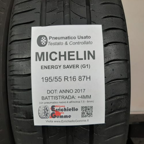 195/55 R16 87H Michelin Energy Saver (G1) – 50% +4mm – Gomme Estive