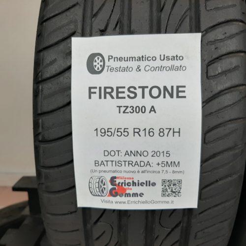 195/55 R16 87H Firestone TZ300A –  60% +5mm – Gomme Estive
