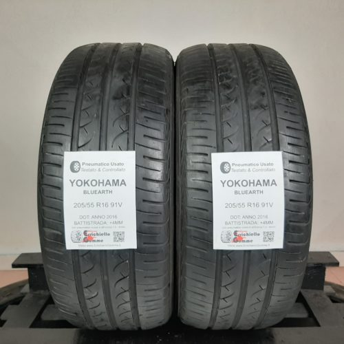 205/55 R16 91V Yokohama Bluearth – 50% +4mm – Gomme Estive