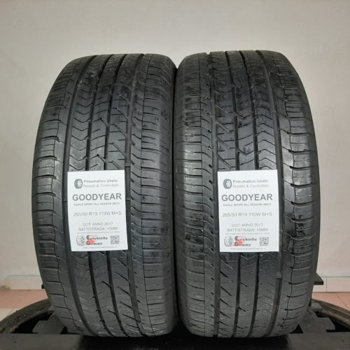 265/50 R19 110W M+S Goodyear Eagle Sport All Season (MGT) – 60% +5mm – Gomme 4 Stagioni