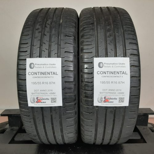 195/55 R16 87H Continental ContiEcoContact 5 – 70% +6mm – Gomme Estive