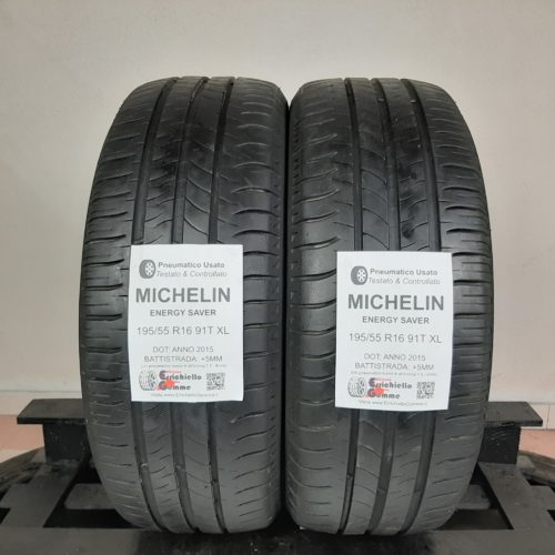 195/55 R16 91T XL Michelin Energy Saver – 60% +5mm Gomme Estive