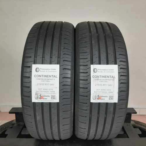 215/55 R17 94V Continental ContiEcoContact 5 (Conti Seal) – 60% +5mm – Gomme Estive