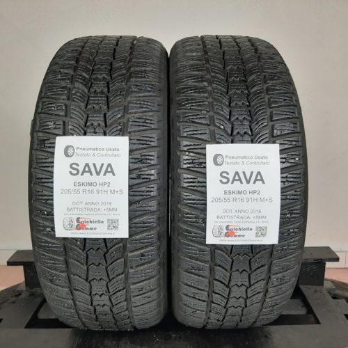 205/55 R16 91H M+S Sava Eskimo HP2 – 60% +5mm – Gomme Invernali