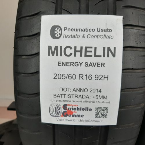 205/60 R16 92H Michelin Energy Saver – 60% +5mm – Gomme Estive