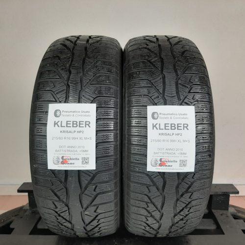 215/60 R16 99H XL M+S Kleber Krisalp HP2 – 60% +5mm – Gomme Invernali