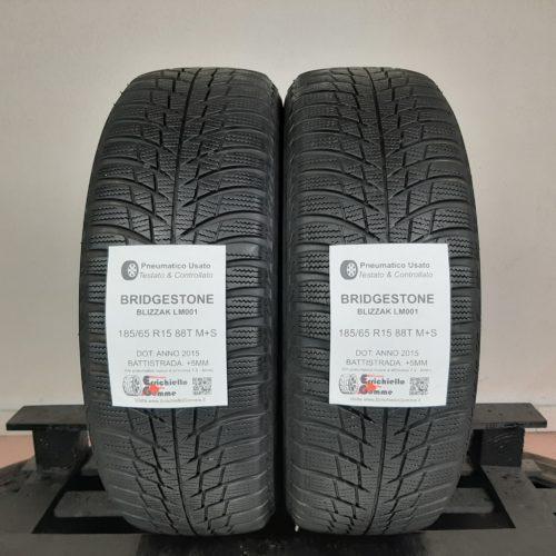185/65 R15 88T M+S Bridgestone Blizzak LM001 – 60% +5mm – Gomme Invernali