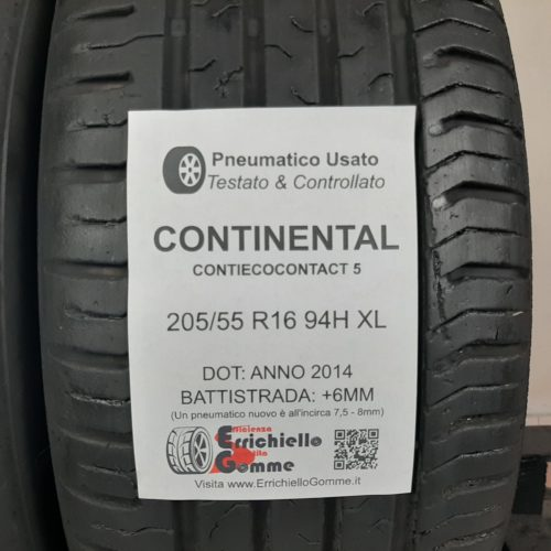 205/55 R16 94H XL Continental ContiEcoContact 5 – 70% +6mm – Gomme Estive