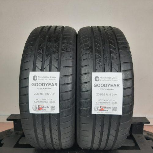 205/55 R16 91V Goodyear EfficientGrip – 70% +6mm – Gomme Estive
