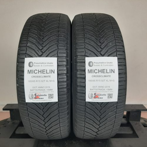 185/65 R15 92T XL M+S Michelin CrossClimate – 60% +5mm Gomme 4 Stagioni