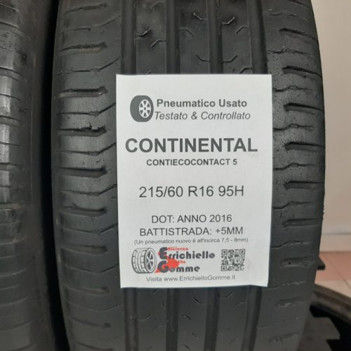 215/60 R16 95H Continental ContiEcoContact 5 – 60% +5mm – Gomme Estive